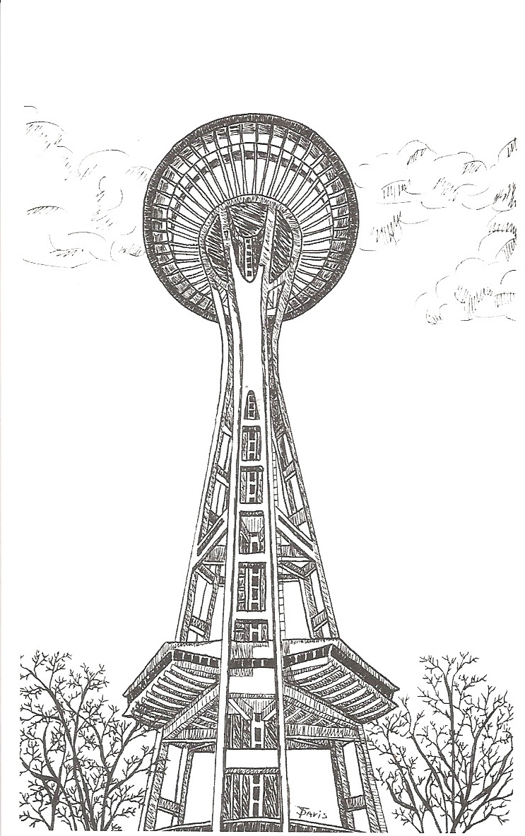 Line Art Space : Space needle line art pictures to pin on pinterest daddy